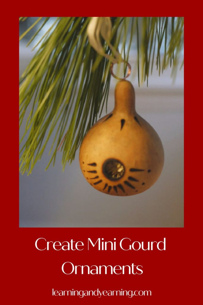 Homemade mini gourd ornaments!