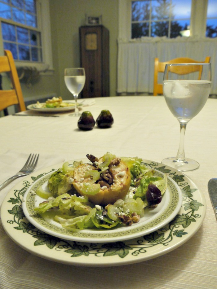 In cooler weather, the combination of hot and cold in a salad is great. And what says fall better than baked apples? Baked apple salad - the perfect comfort food!