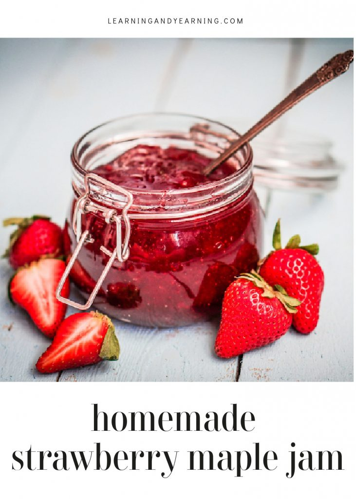 Make a simple strawberry maple jam with only two real food ingredients. Who says healthy can't be delicious?