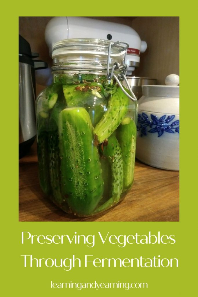 Preserving vegetables through fermentation!