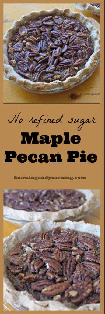 Maple Pecan Pie with no refined sugar is a great way to celebrate any holiday. It's genuinely better than the standard recipes out there and it's real food!