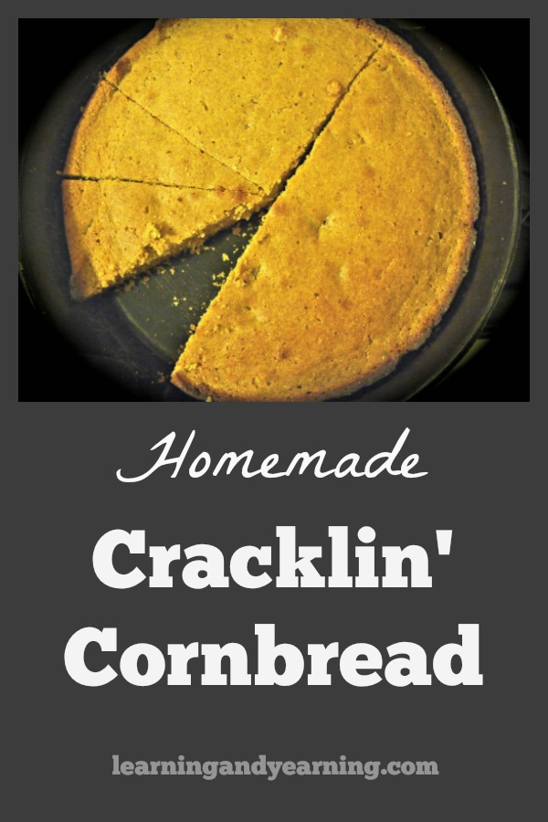 If you render your own lard from pastured pork fat, you'll be left with cracklings. Use them to make some delicious cracklin' cornbread. #cornbread #homemade #recipe #realfood