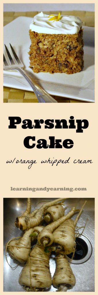Love a classic carrot cake? Try parsnip cake for a little variety, and the orange whipped cream tops it perfectly!