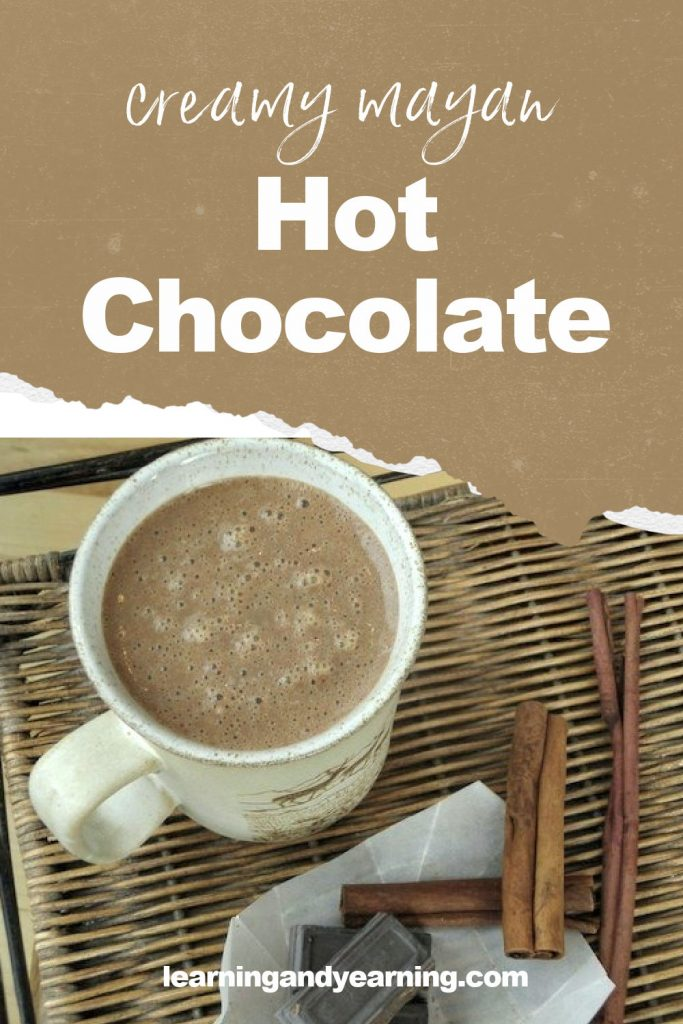 Thick, creamy Mayan hot chocolate with a secret ingredient!