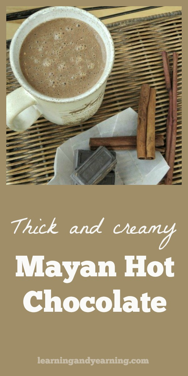 This thick and creamy Mayan hot chocolate has a secret ingredient - butternut squash. But don't worry, no one will figure it out. #hotchocolate #butternutsquash #recipe
