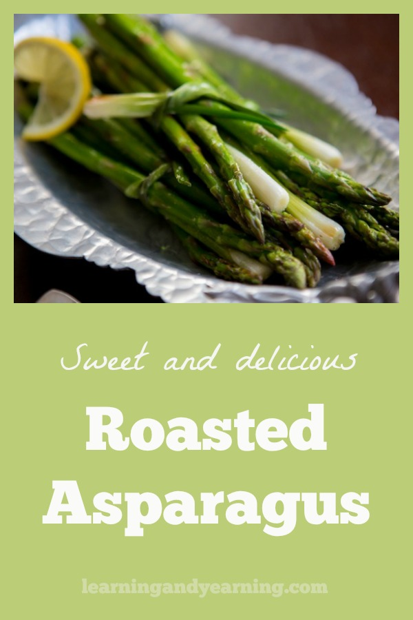 Roasted asparagus is an easy way to bring out the natural sweetness in asparagus. It's a wonderful treat when the asparagus is in season. #asparagus #asparagusrecipes #roastedvegetables