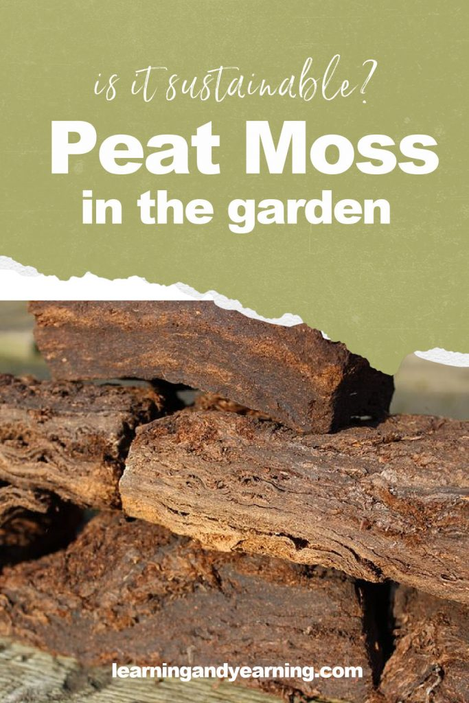 Is using peat moss in the garden a sustainable practice?