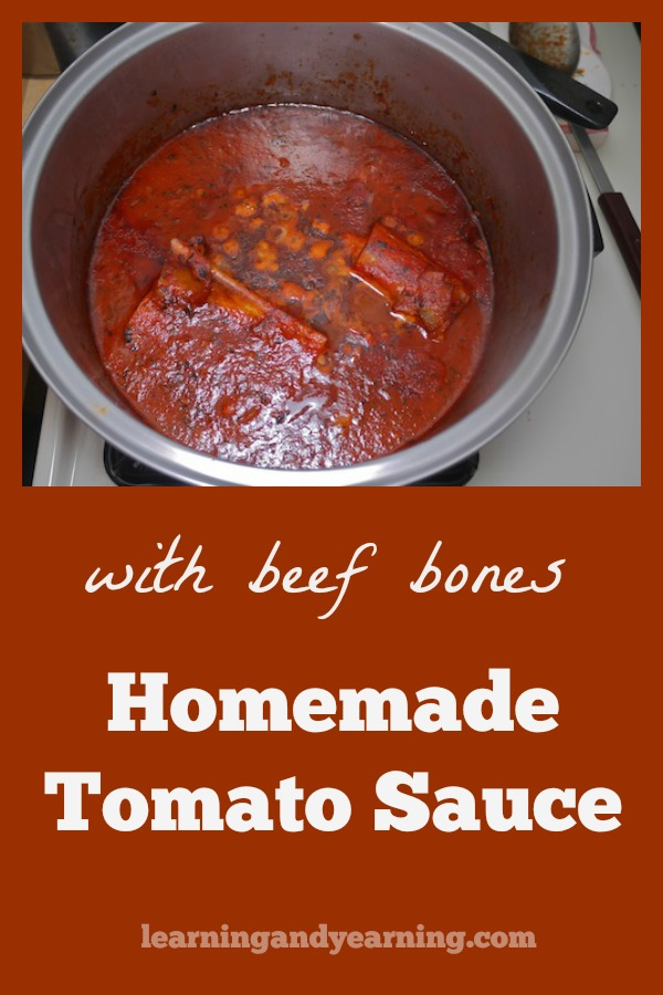 There are so many reasons why it's worth the trouble to put beef bones and bone marrow in your homemade tomato sauce. It's not only delicious, but really nutritious!