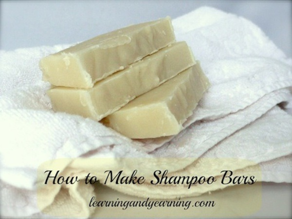 DIY Shampoo Bars @learningandyearning.com