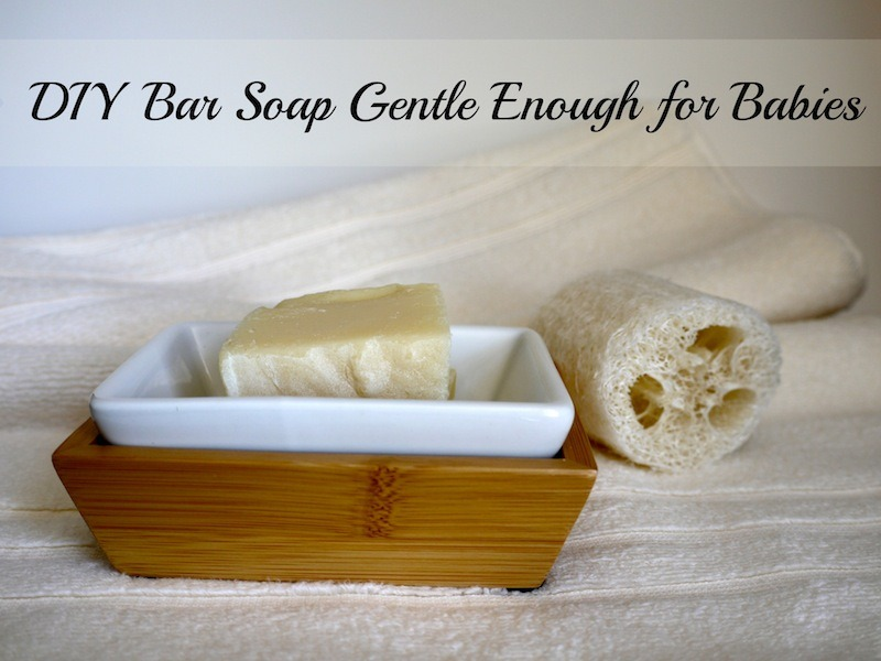 DIY Bar Soap Gentle Enough for Babies @learningandyearning