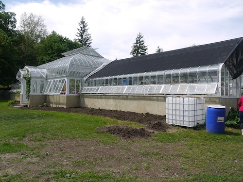 This beautiful greenhouse was restored a few years ago.