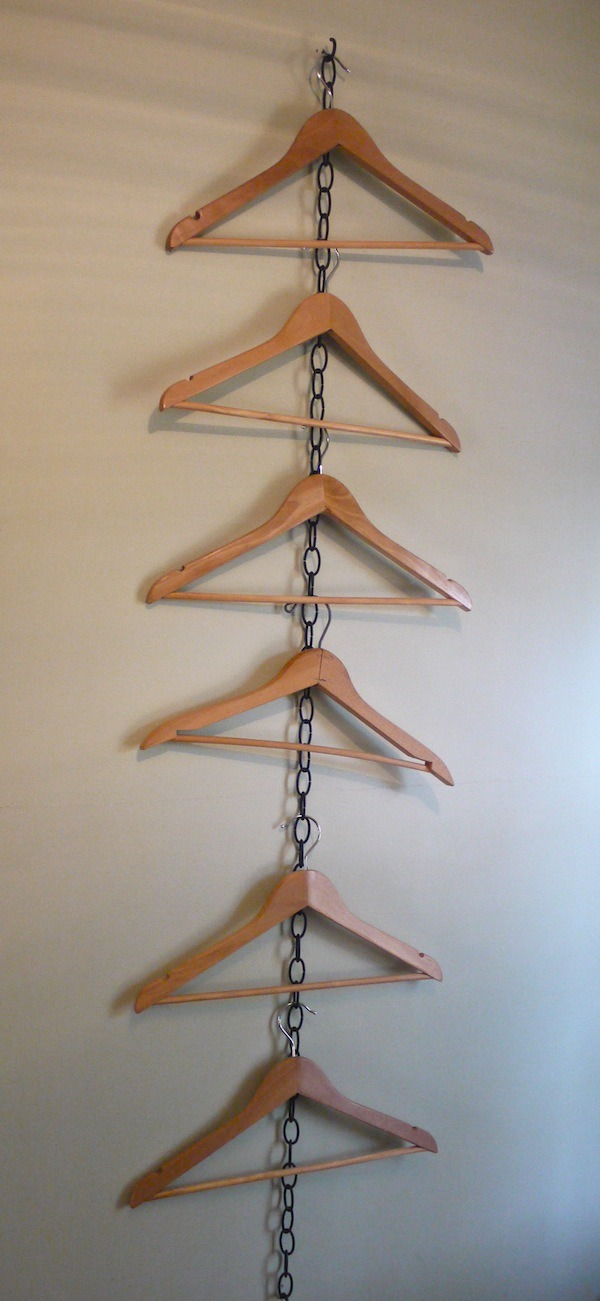 Cottage living: How to hang clothes when there's no closet. @learningandyearning