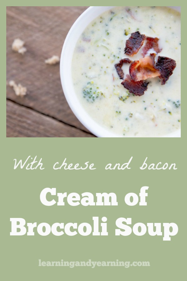 Soup is such comfort food, and there's none better than Cheesy Cream of Broccoli Soup with Bacon. You'll be back for seconds - guaranteed!