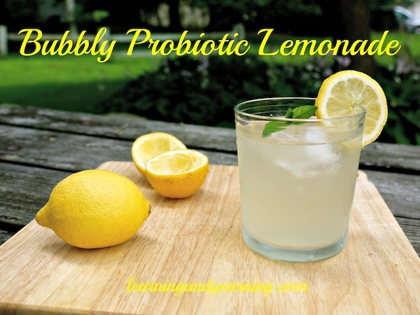 Bubbly Probiotic Lemonade @learningandyearning