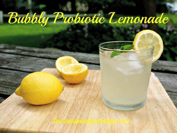 Bubbly Probiotic Lemonade @learningandyearning