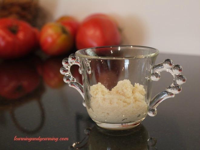 Homemade lacto-fermented horseradish