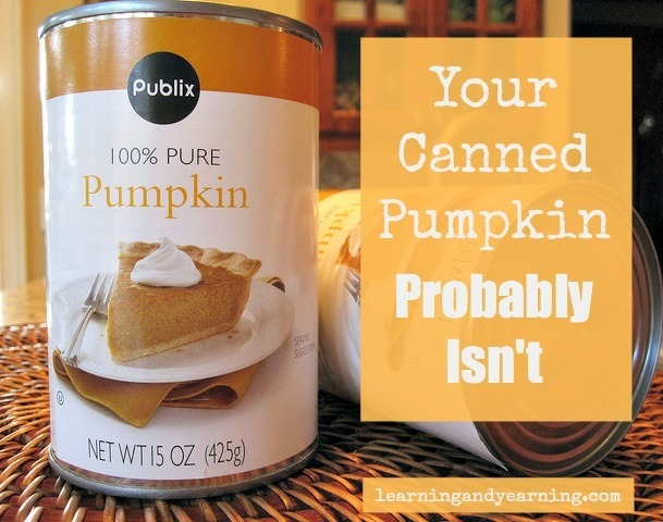 Your canned pumpkin probably isn't actually pumpkin @learningandyearning