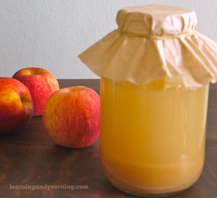 homemade raw apple cider vinegar
