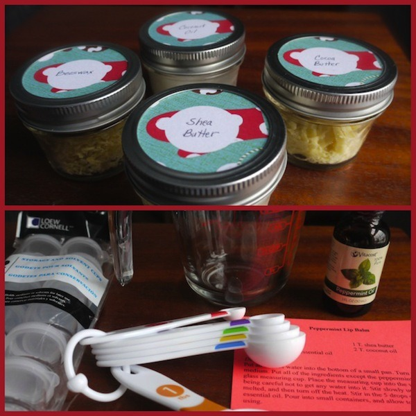 Ingredients and equipment for lip balm