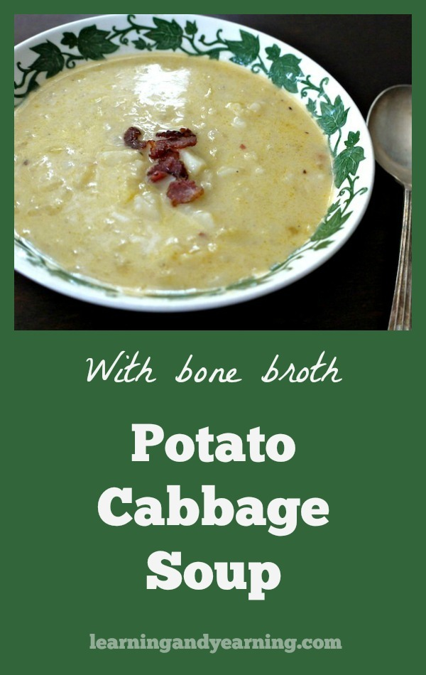 hat's better on a cold winter night than soup? This Potato Cabbage Soup with Bone Broth will warm you up and nourish your body!