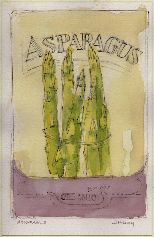asparagus print from The Art of Gardening: Building Your Soil eBook