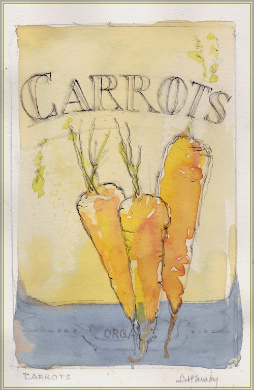 carrot print from The Art of Gardening: Building Your Soil eBook