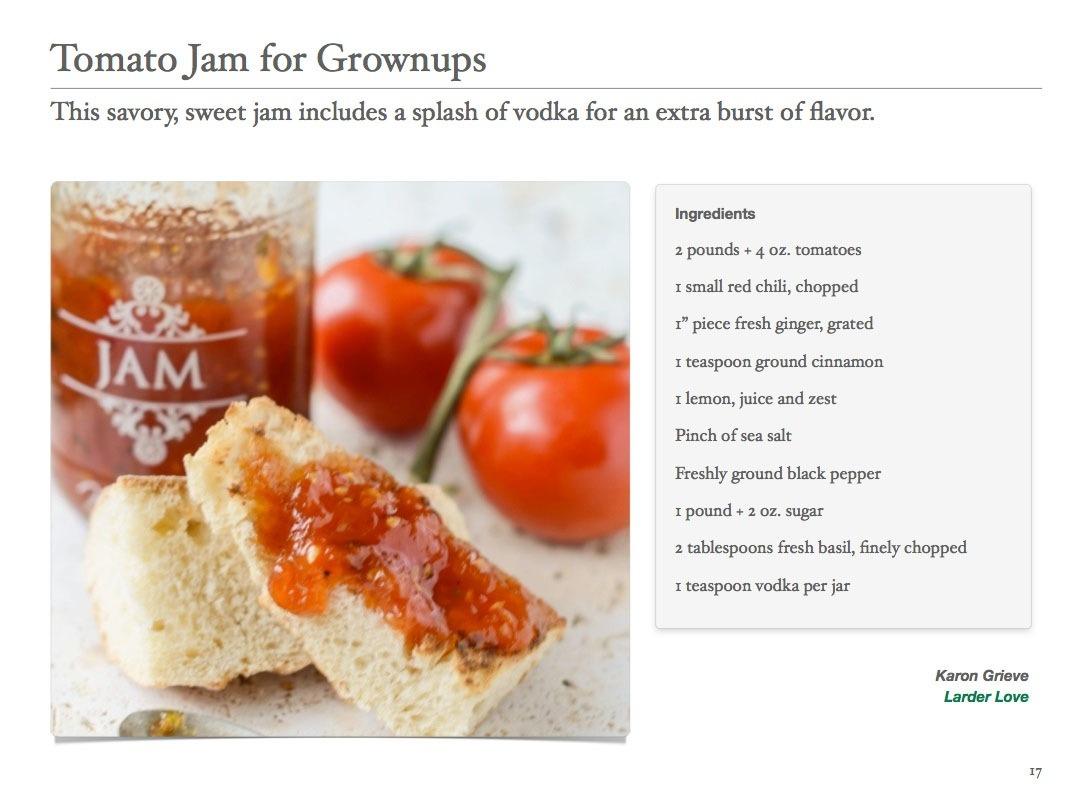 Tomato Jam for Grownups