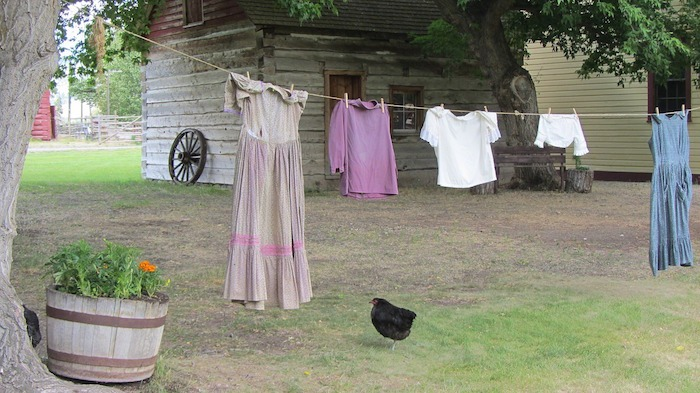clothing hanging to dry were washed in tallow soap