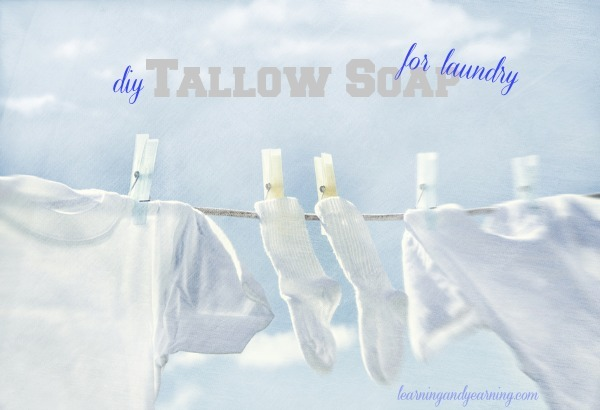 Make your own tallow soap for laundry.