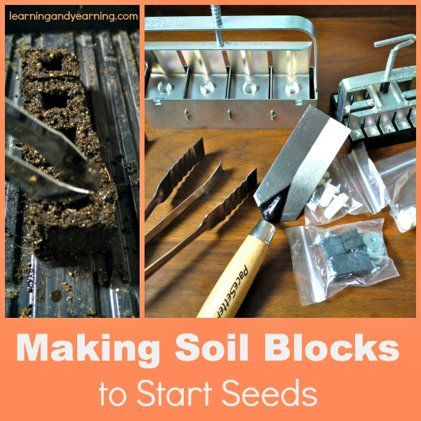 Making soil blocks to start seeds for Soil block maker