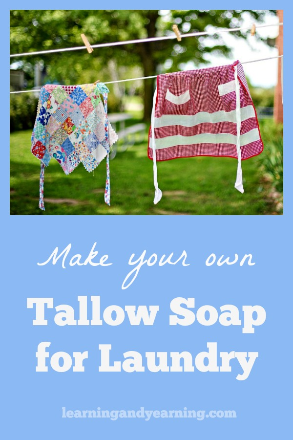 DIY Tallow Soap for Laundry: Tallow soap is a traditional soap used for laundry; now you can learn to make it yourself!