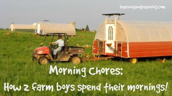 Morning Chores: How 2 farm boys spend their mornings!