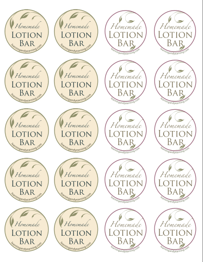 Lotion Bar Printables