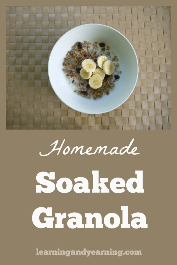 Soaking oats makes them much easier for our body to digest. Here's a great recipe for making homemade soaked granola!