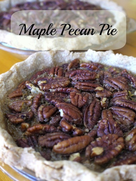 Maple Pecan Pie Recipe - no refined sugar!