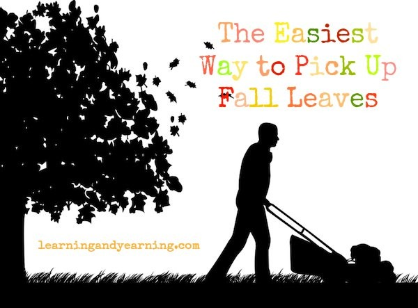Are you killing yourself raking those leaves? Here's the easiest way to pick up fall leaves!