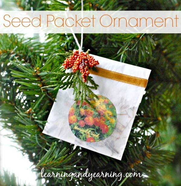 Do you save seeds from your garden? Make a seed packet ornament for decorating and gift giving!