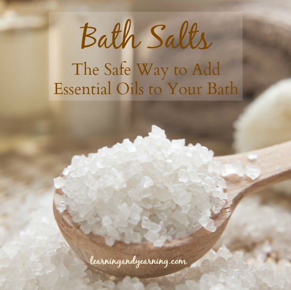 peppermint oil in Bath Salts