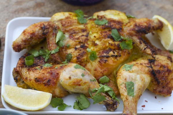 Spatchcock Roasted Chicken with Smoky Turmeric Marinade cooks quickly, is easy to make and you get the wonderful benefits of turmeric to boot!