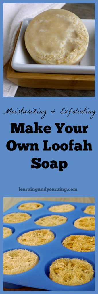 Separate soap, loofah, and moisturizer work to soften skin, but where's the fun in that when you can make your own moisturizing and exfoliating loofah soap.