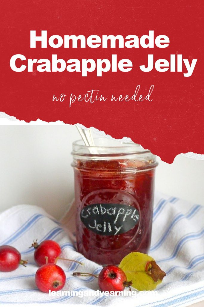 Canning homemade crabapple jelly!