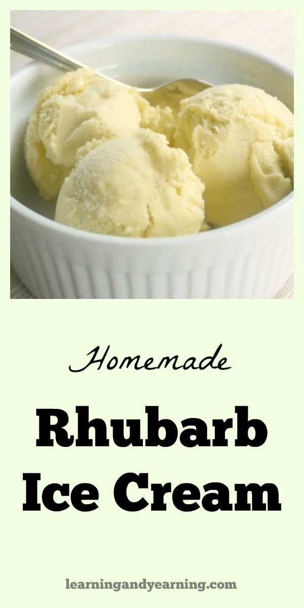 Looking for a new way to use delicious spring rhubarb? You'll be delighted with this real food, homemade rhubarb ice cream!
