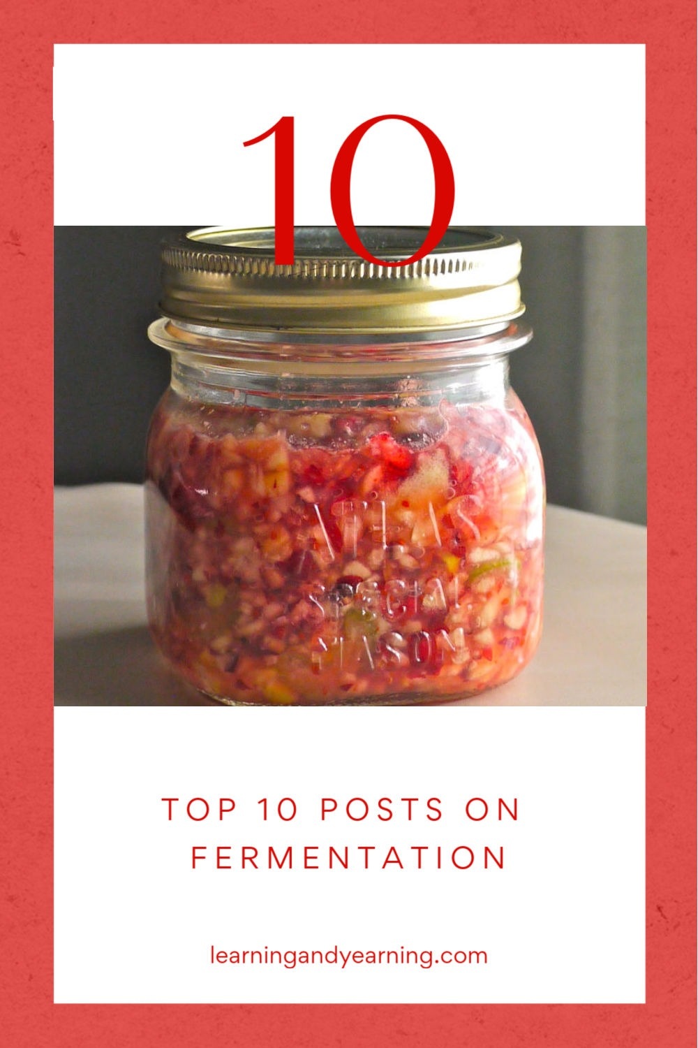 Learning And Yearning's Top 10 Posts on Fermentation