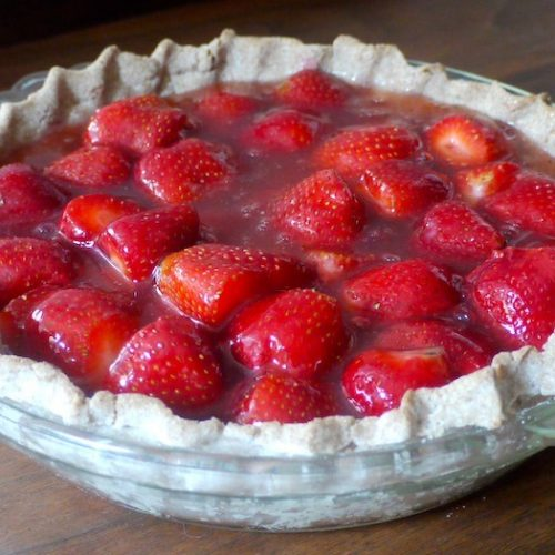 Delicious fresh strawberry pie!