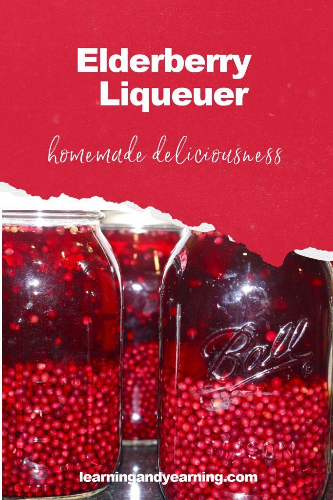 Homemade elderberry liqueuer!