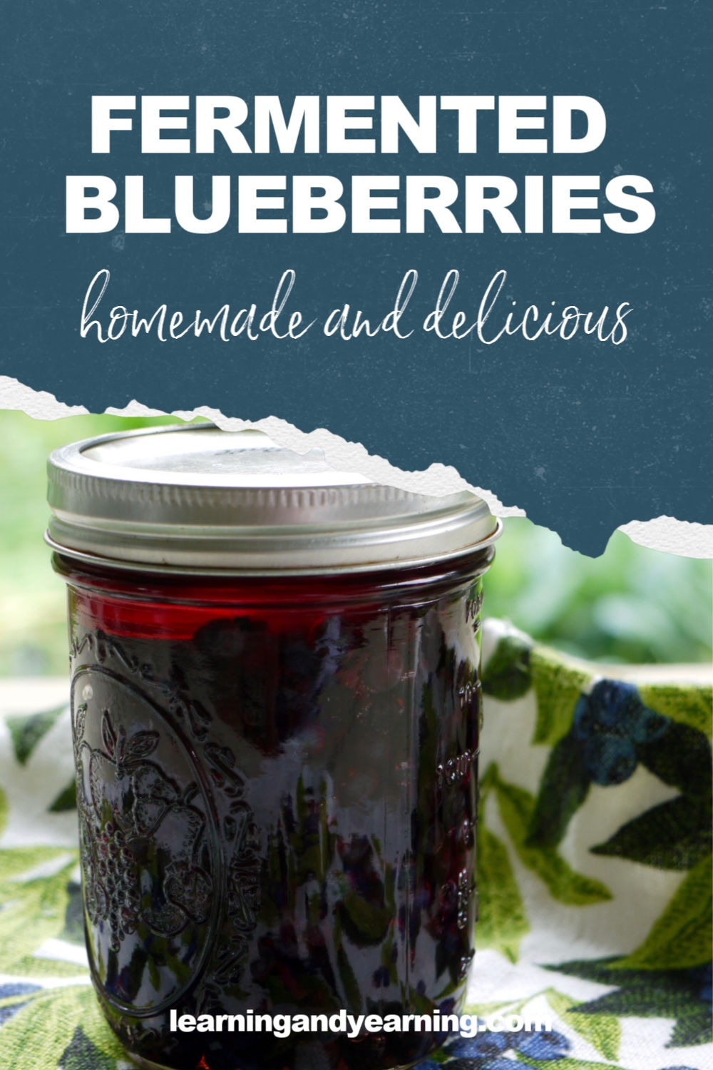 Homemade lacto-fermented blueberries!