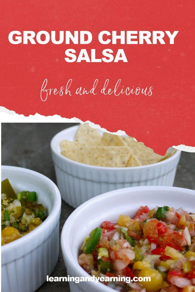 Fresh, ground cherry salsa!