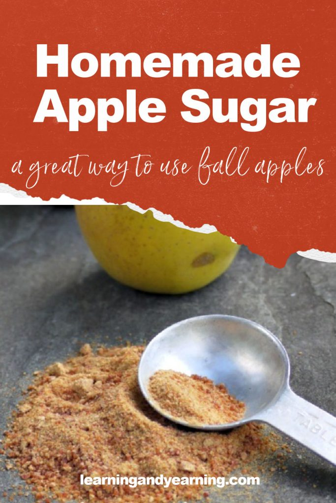 Make your own homemade sweetener from apples this fall - apple sugar!