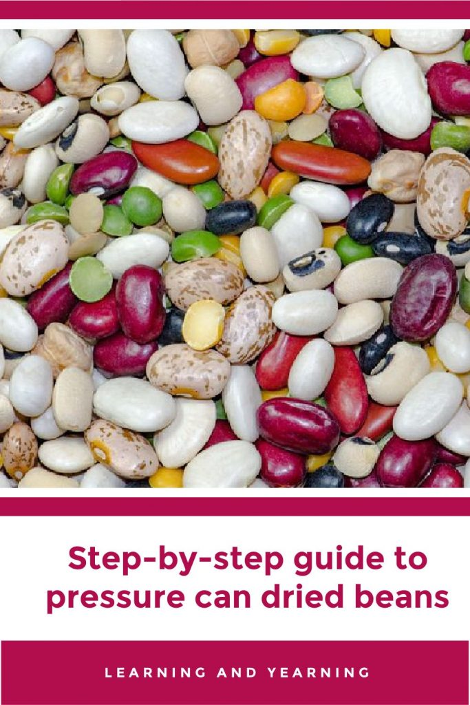 Step-by-step guide to pressure can dried beans!