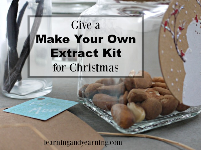 A great idea for gift giving is to make an extract kit for the cook on your list. Think vanilla, almond, chocolate, and more!